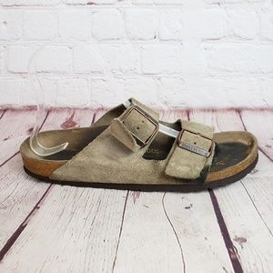 Birkenstock Arizona Suede Leather Sandals